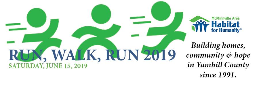 18th Annual Run, Walk, Run 2019 - McMinnville Area Habitat